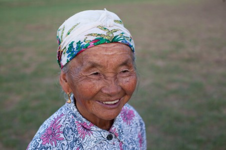 Norjing, the granmother of the family.