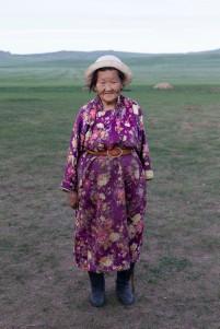 Traditional Mongolian dress.