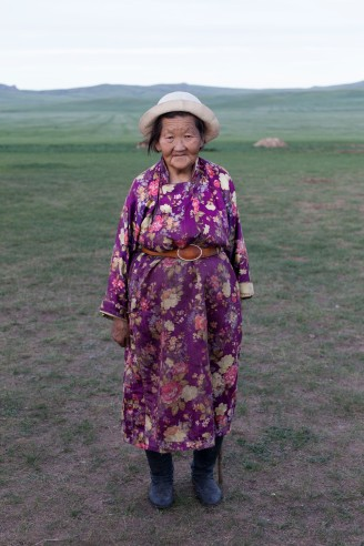 Traditional Mongolian dress.