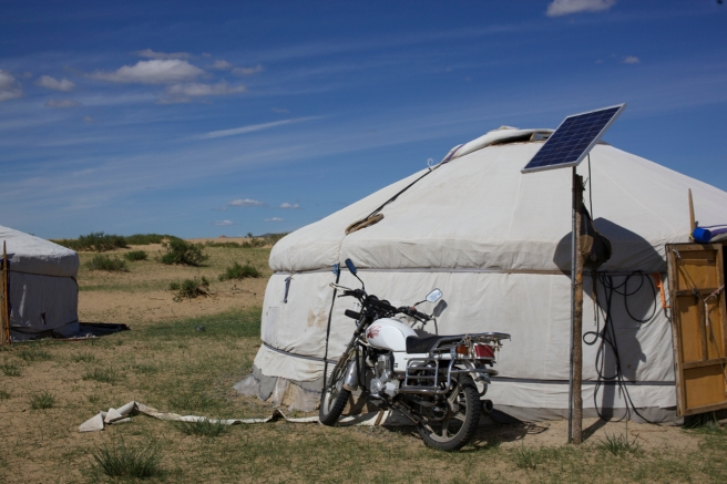 Solar power was a big thing, and motorcycles were popular for herding